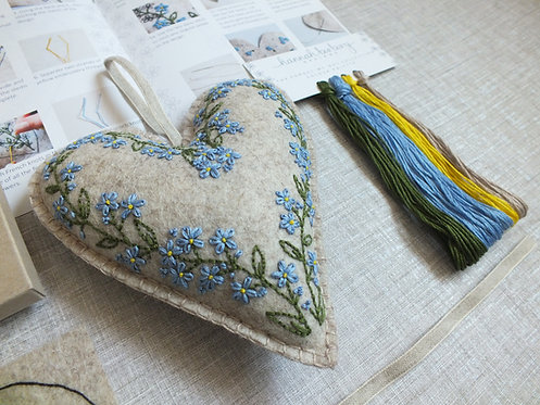 Mary Forget-me-not Hand Embroidery Kit