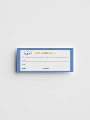 Inland Island Gift Certificate