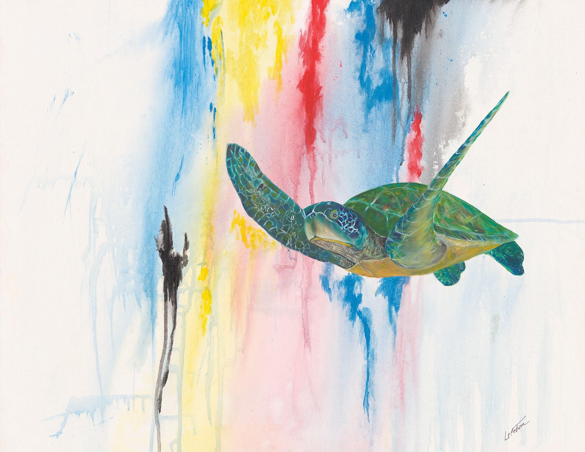 Avas Funky Green Turtle