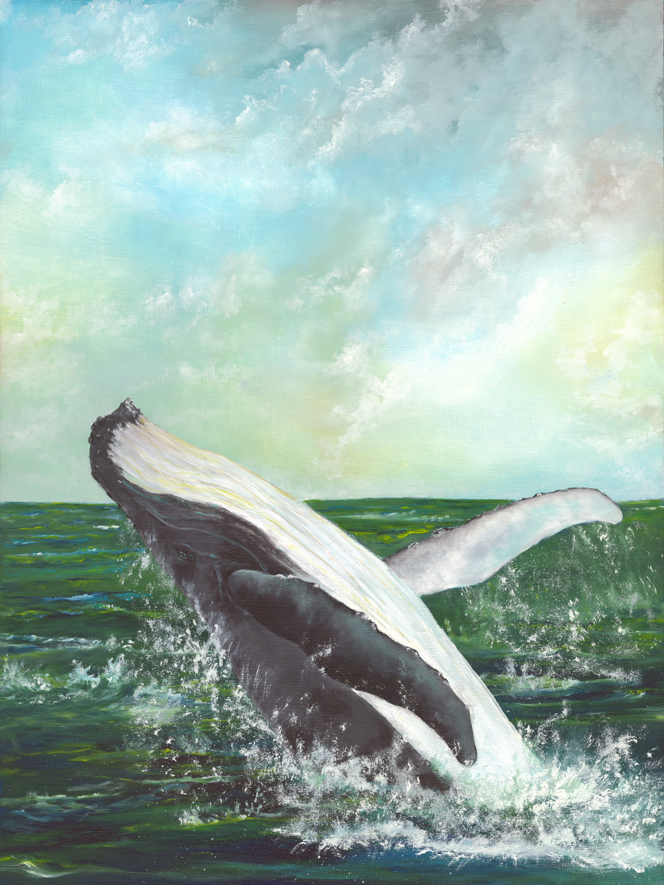 Whale II - 2nd in my series of breaching