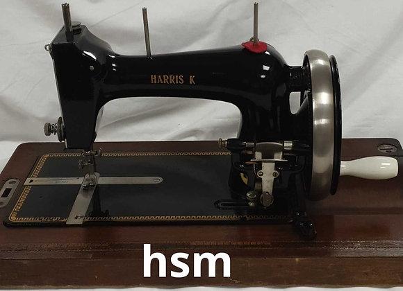 Harris Hand operated sewing machine,