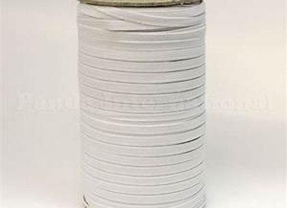 Elastic,7mm,quater inch 250 metre roll, white