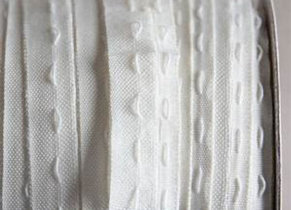 Curtain Tape 1 inches 2.5 cm (White) 100 metre Roll
