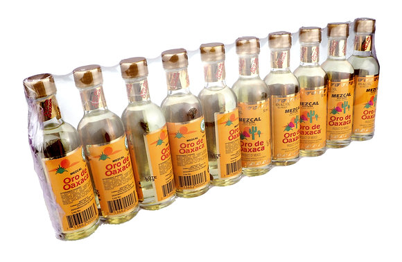 Oro Mezcal Reposado 100% Agave Mini Pack - 10 x 50ml