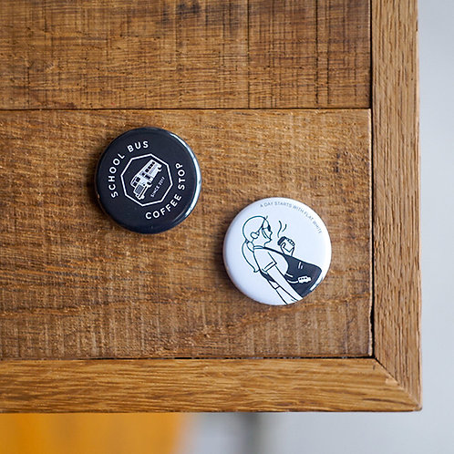 Button badges -Black set-