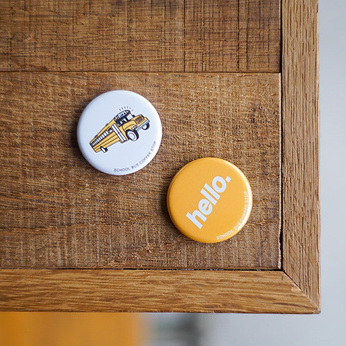 Button badges -Yellow set-