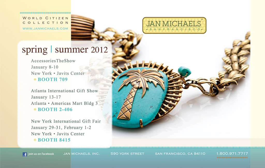 Jan Michaels Jewelry - Mailer (back)