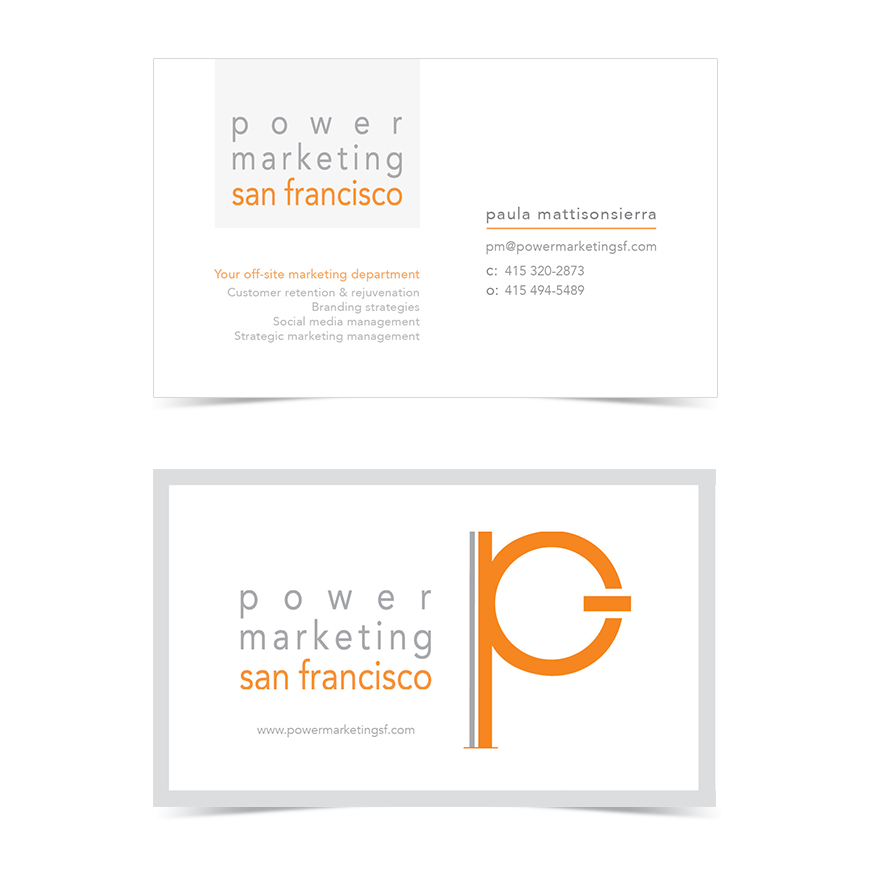Power Marketing Business Card