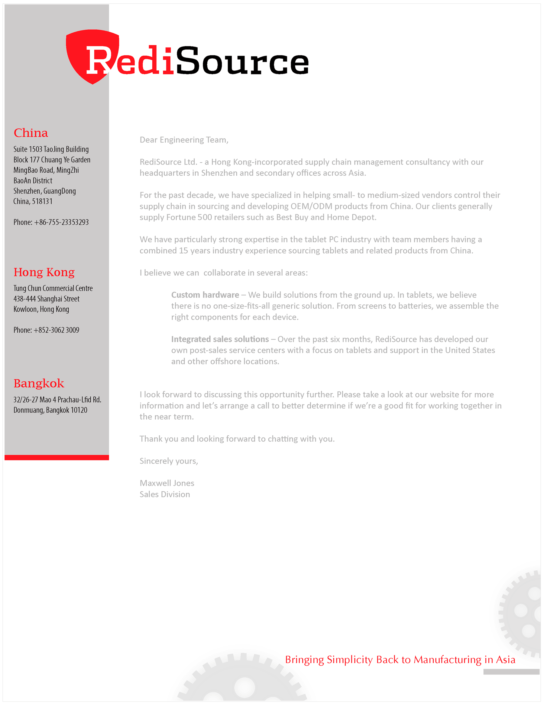 RediSource Letterhead
