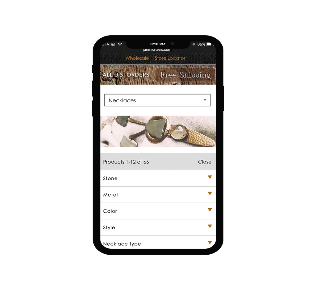 Custom Mobile Interface