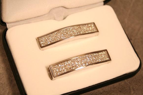 Custom KickBars 14kt white Gold and Diamonds