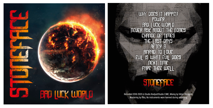 The complete cover for Bad Luck World is done!