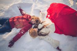 влюбленные в снегу