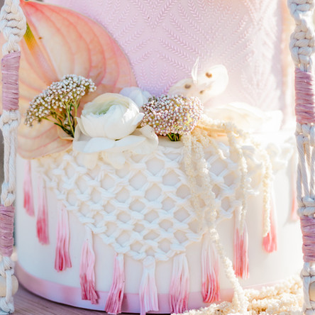 Desert Bohemian Wedding Cake