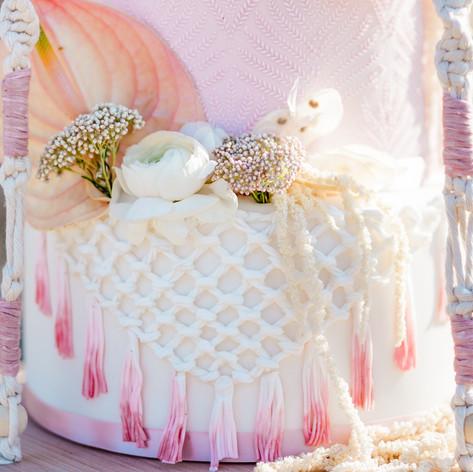 Desert Bohemian Wedding Cake