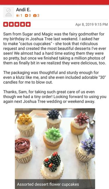 Yelp Review Cactus Cupcakes