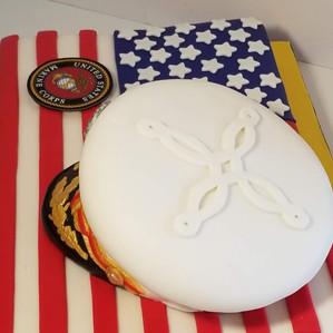 USMC Retirement Cake