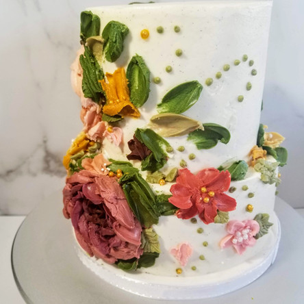 Palette Knife Buttercream Wedding Cake