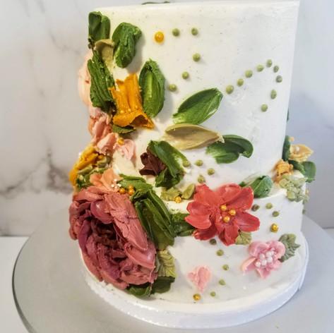 Palette Knife Buttercream Wedding Cake