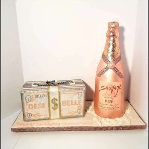 100% Edible Champagne Bottle and Purse Clutch