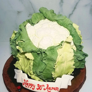 Yes, it's a Cake that looks like a Cauliflower!
