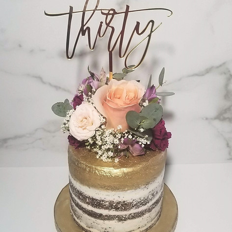 30th Semi-Naked Dutch Chocolate Birthday Cake