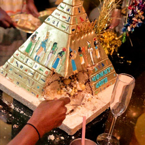 Secret Chamber in Pyramid Cake