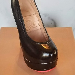 100% Chocolate Louboutin High Heel Shoe