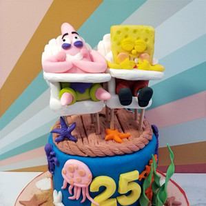 Under The Sea Sponge Bob and Patrick Cake