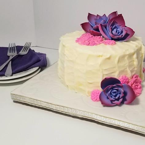 Lovely Purple Succulent Cake