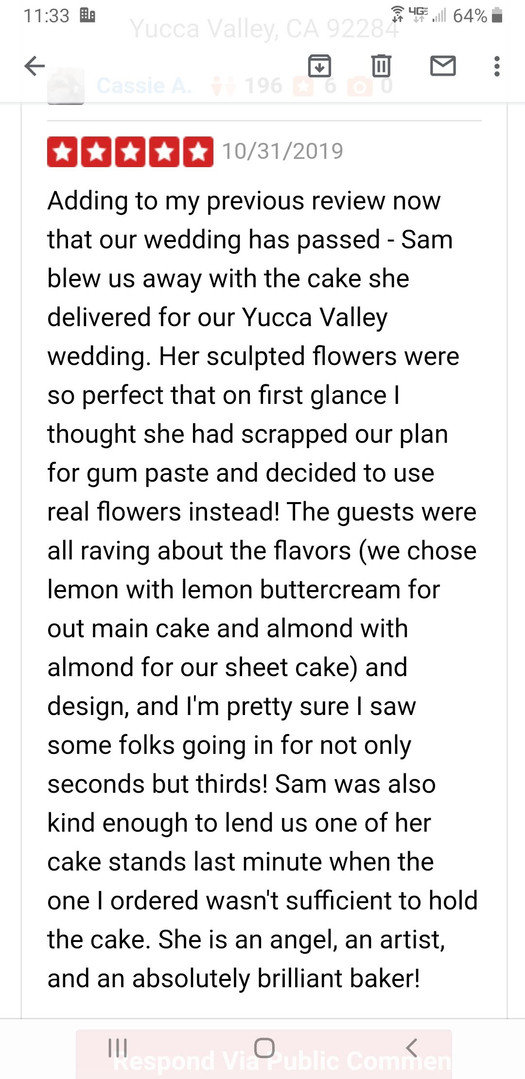 Yelp Review from Cassie