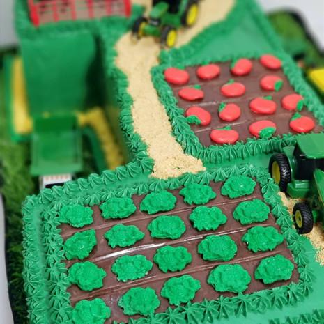 Close-up of Farm Birthday Cake