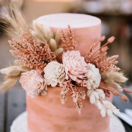 Blush Boho Wedding Cake