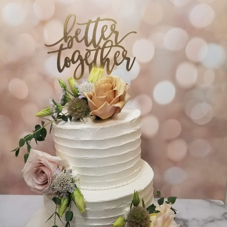Two Tiered Rustic Wedding Cake