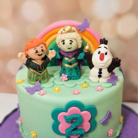 Frozen Little People 2nd Birthday Cake