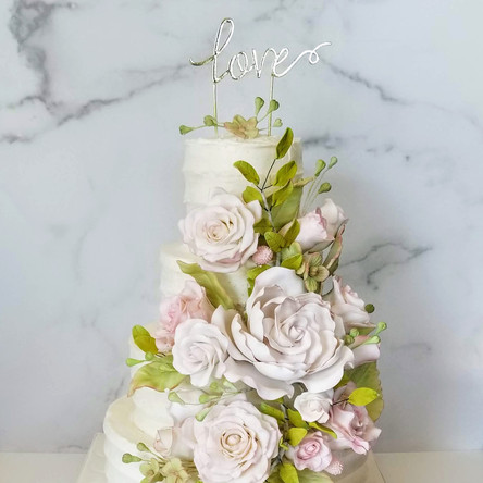 Eliza and Celio's Wedding Cake