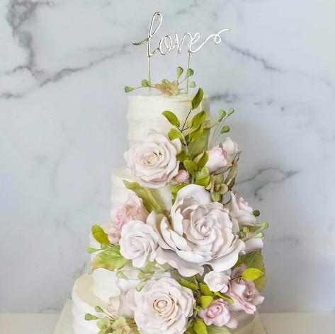Eliza and Celio's Wedding Cake