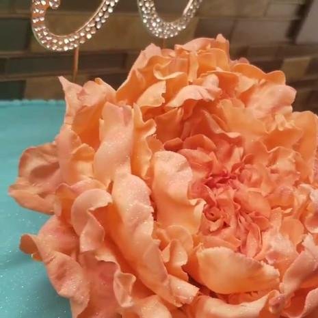 Handmade Gumpaste (Sugar) Coral Colored Peony
