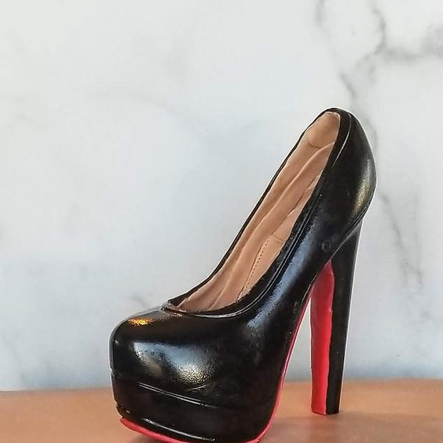 Louboutin 100% Chocolate High Heel