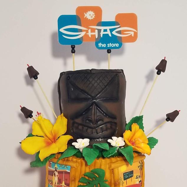 9th Anniversary Tiki Cake