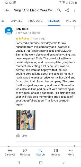 Lovely Google Review