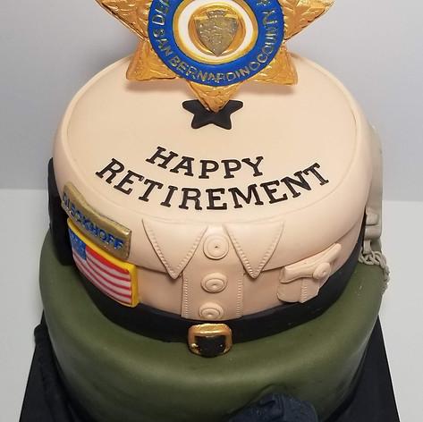 Happy Retirement Sheriff's Cake