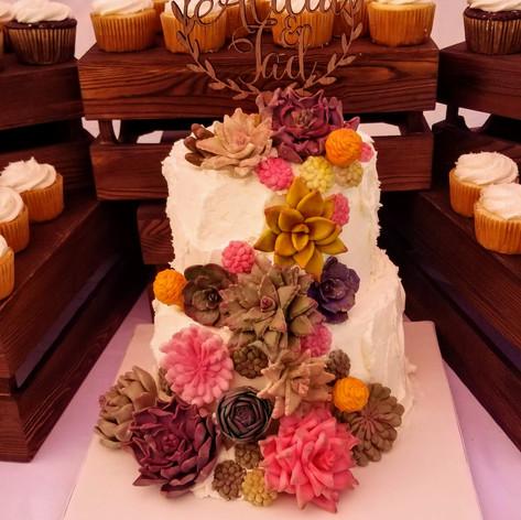 Cactus Cascade Wedding Cake