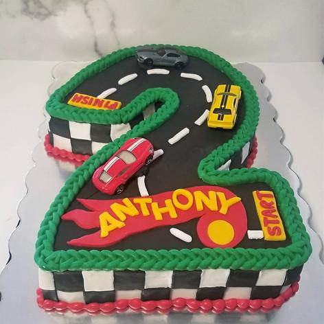 Anthony's Hot Wheels Cake