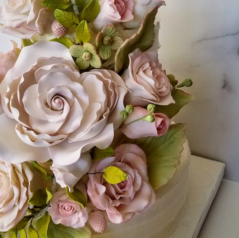 Eliza and Celio October 2019 Wedding Cake