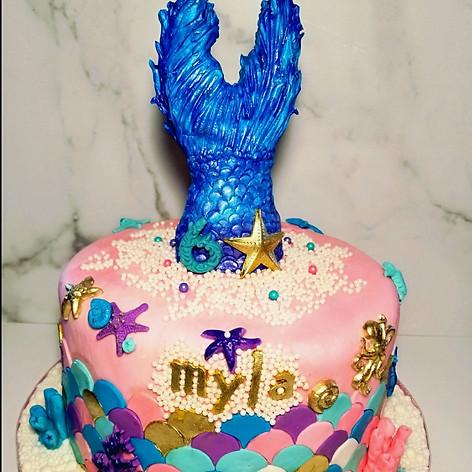 Mermaid Fantasy Birthday Cake