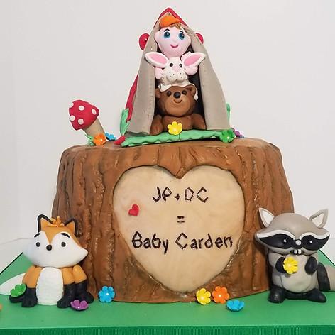 Woodland Babies Baby Shower Cake