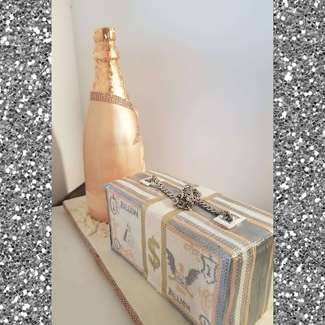 All Edible Champagne Bottle and Clutch