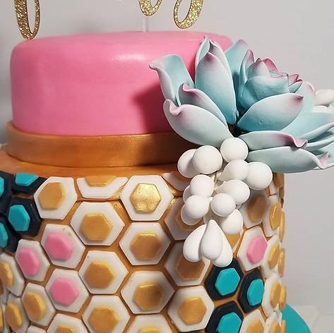 Close up of Palm Springs Vibe Cake