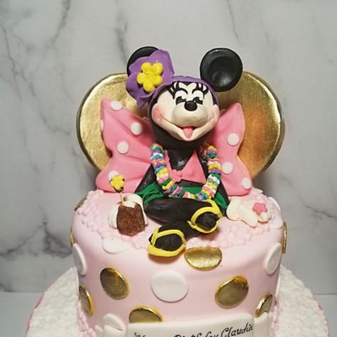 Tropical Minnie Mouse Birthday Cake